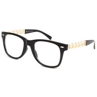 Blue Crown Buddy Chain Temple Glasses Black One Size For Men 26452010001