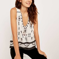 Ecote Ivory Emery Tank Top - Urban Outfitters