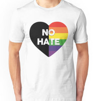 No Hate Gay Pride Shirts by poppyshirt