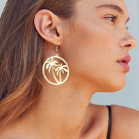 ZHUU Palm Tree Drop Earring | Urban Outfitters