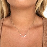Dainty Crystal & Gold Necklace
