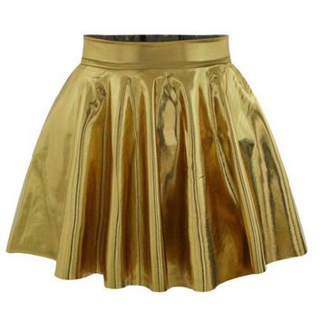 East Knitting R68 New 2016 skirts womens pleated Skirts Yellow Solid Color Skirts For Women