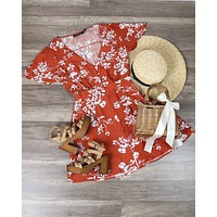 Final Sale - MINKPINK - Bonfire Mini Dress in Terracotta Floral