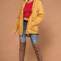 Andy Mustard Removable Hood Utility Jacket