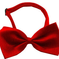 Plain Red Bow Tie