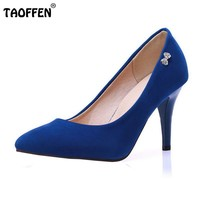 women thin high heel shoes lady party suede sexy brnad
