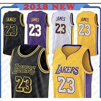 Los Angeles Lakers #23 LeBron James Basketball Jerseys-1