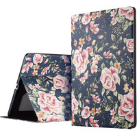 ESR PU Leather Fashion Woman Girl Case Clear Soft Silicone Secret Garden Cover for iPad Pro 9.7""