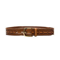 Chevron Perforated Hip Belt in New Cognac