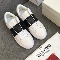 Valentino Leather Open Sneaker