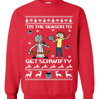Rick & Morty Get Schwifty Ugly Christmas Sweater sweatshirt Unisex Adults