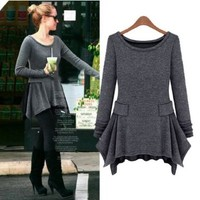 Slim Was Thin Long-sleeved Knit Dress-l