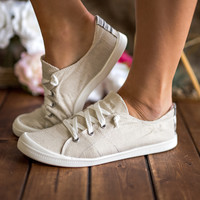 Runaway With You Lace Up Aztec Print Detail Sneakers (Cream)