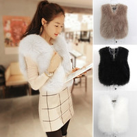New Womens Sleeveless Faux Fur Vest Gilet Jacket Coat Waistcoat Top 3Color  7_S = 1916948932