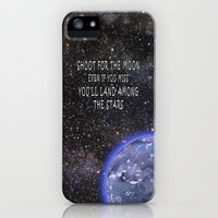 Shoot for the Moon iPhone Case for iphone 5, 4S, 4, 3GS, 3G by Alice Gosling   Society6
