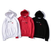 Couple Hoodies Winter Embroidery Pullover Hats [390691225636]