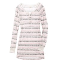 Aerie Printed Henley Nightie | Aerie for American Eagle