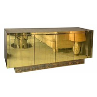 Pre-owned 1970s Signed Paul Evans Cityscape Credenza