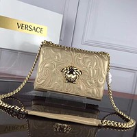 Versace Women Leather Shoulder Bag Satchel Tote Bag Handbag Shopping Leather Tote Crossbody Satchel Shouder Bag