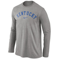 Kentucky Wildcats Nike Wordmark Long Sleeve T-Shirt - Dark Gray