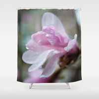 spring pink magnolia flower photography.   Shower Curtain by NatureMatters