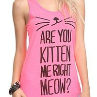 Are You Kitten Me Girls Tank Top Plus Size - 301186