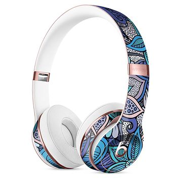 Floral Blues Full-Body Skin Kit for the Beats by Dre Solo 3 Wireless Headphones