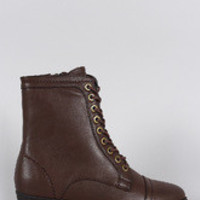 Women's Bamboo Pointy Toe Flat Lace Up Boot