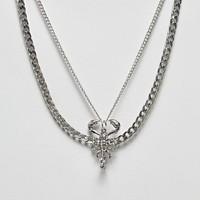 Sacred Hawk multi necklace with scorpion pendant at asos.com