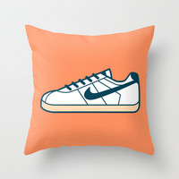 #55 Nike Cortez Throw Pillow by Brownjames Prints