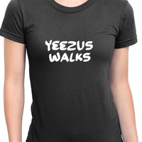 Yeezus Walks Fan Art Womens T Shirt