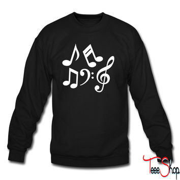 Music notes 1 sweatshirt