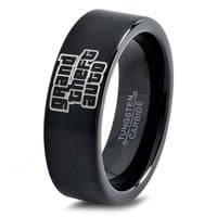 Grand Theft Auto Ring Gamer Ring Jewelry Fanatic Geek Girls Teen Womens Grand Theft Auto Ring Playstation Xbox Fathers Day Gift Tungsten Carbide 289