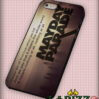 """mayday parade quotes for iphone 4/4s/5/5s/5c/6/6+, Samsung S3/S4/S5/S6, iPad 2/3/4/Air/Mini, iPod 4/5, Samsung Note 3/4 Case """"002"""""""