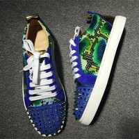 Christian Louboutin CL Low Style #2038 Sneakers Fashion Shoes Online