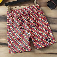 BURBERRY Summer Men Women Loose Print Sport Running Beach Shorts