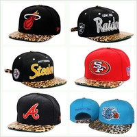 Leopard Print Team Strapbacks from CherryKreations21