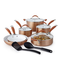 Cooks Copper 12-pc. Ceramic Cookware Set TTU-U7113 - JCPenney