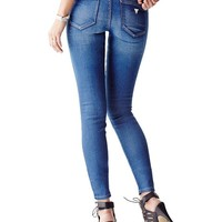 Mid-Rise Curve X Jeans in Speakeasy Wash   GUESS.com