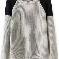 Essential Color-Blocked Knit Sweater - OASAP.com
