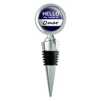 Omar Hello My Name Is Wine Bottle Stopper
