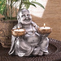 Sitting Buddha Tealight Candle Holder