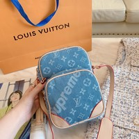 LV Women Leather Shoulder Bag Satchel Tote Bag Handbag Shopping Leather Tote Crossbody Satchel Shouder Bag created