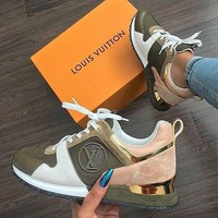ABDCCK Louis Vuitton Green and Pink Sneakers