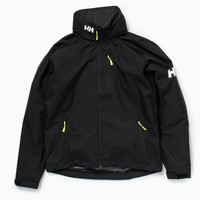 Crew Hooded Midlayer Jacket, Black