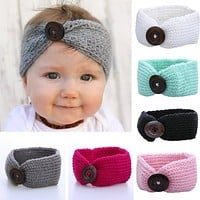 Baby Girl Wool Knitted Headbands Winter Kids born Hair Head Wrap Turban Headband Headwear Infant Hair Head Wrap Accessories