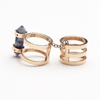 Amber Sceats Womens Stone Armour Ring - Rose Gold