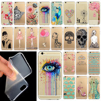 "Phone Case Cover For iPhone 6  6S 4.7""  Ultra Soft Silicon Transparent Cute Shoes Girl Flowers Animals Patterns  Mix"