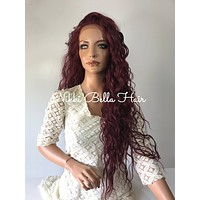 Evanescence Human Hair Blend Multi Parting lace front wig 26' e1043