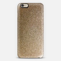 ombre gold glitter iPhone 6 case by Sylvia Cook | Casetify